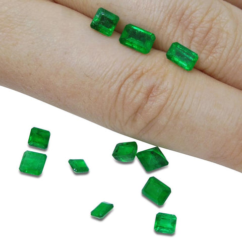 Colombian Emerald 4.73 cts 11st Emerald Cut/Square WHOLESALE LOT