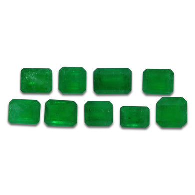 Colombian Emerald 4.31 cts 9st Emerald Cut Wholesale Lot - Skyjems Wholesale Gemstones