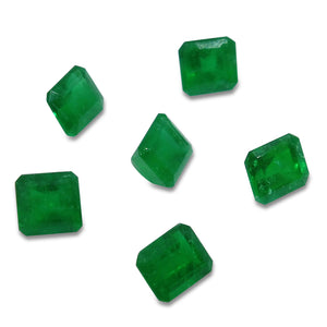 Colombian Emerald 4.16 cts 6st Emerald Cut/Square WHOLESALE LOT