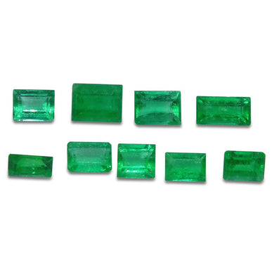 Colombian Emerald 2.46 cts 9st Emerald Cut/Baguette Wholesale Lot - Skyjems Wholesale Gemstones