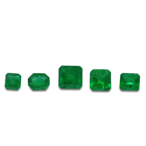 Colombian Emerald 2.29 cts 5st Emerald Cut Wholesale Lot - Skyjems Wholesale Gemstones