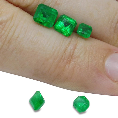 Colombian Emerald 2.29 cts 5st Emerald Cut Wholesale Lot