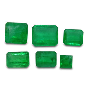 Colombian Emerald 2.82 cts 6st Emerald Cut/Square Wholesale Lot - Skyjems Wholesale Gemstones