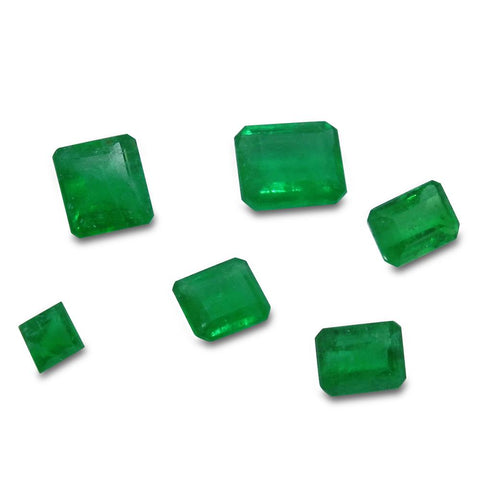 Colombian Emerald 2.82 cts 6st Emerald Cut/Square Wholesale Lot