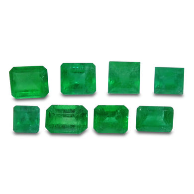 Colombian Emerald 2.44 cts 8st Emerald Cut/Square Wholesale Lot