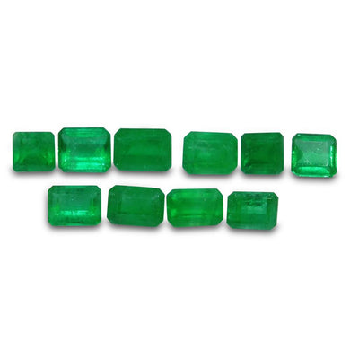 Colombian Emerald 3.42 cts 10st Emerald Cut/Square Wholesale Lot