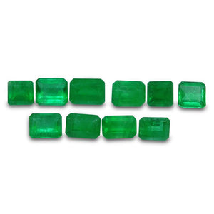Colombian Emerald 3.42 cts 10st Emerald Cut/Square Wholesale Lot - Skyjems Wholesale Gemstones