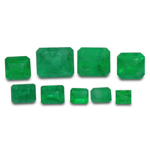 Colombian Emerald 4.75 cts 9st Emerald Cut Wholesale Lot - Skyjems Wholesale Gemstones