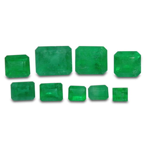 Colombian Emerald 4.75 cts 9st Emerald Cut Wholesale Lot
