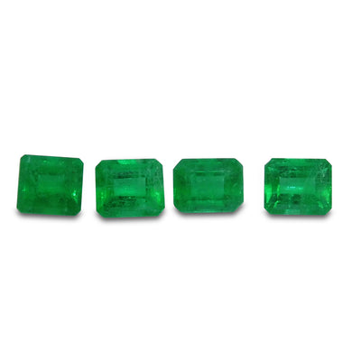 Colombian Emerald 1.69 cts 4st Emerald Cut WHOLESALE LOT
