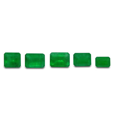 Colombian Emerald 2.91 cts 5st Emerald Cut WHOLESALE LOT - Skyjems Wholesale Gemstones