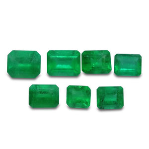 Colombian Emerald 3.52 cts 7st Emerald Cut WHOLESALE LOT - Skyjems Wholesale Gemstones
