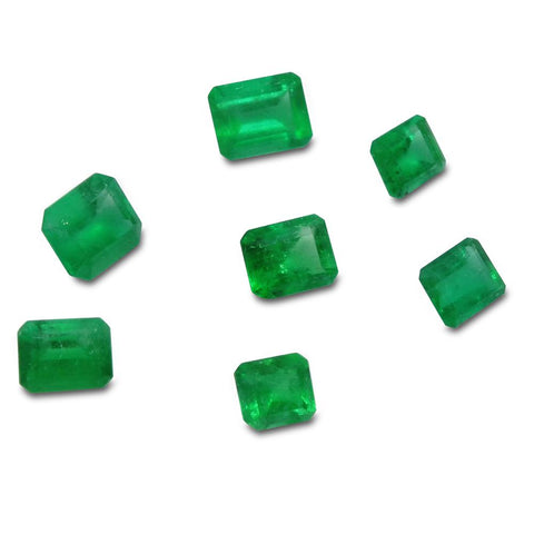 Colombian Emerald 3.52 cts 7st Emerald Cut WHOLESALE LOT
