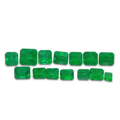 Colombian Emerald 4.42 cts 14st Emerald Cut/Square Wholesale Lot - Skyjems Wholesale Gemstones