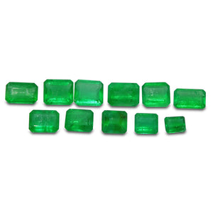Colombian Emerald 4.2 cts 11st Emerald Cut WHOLESALE LOT - Skyjems Wholesale Gemstones