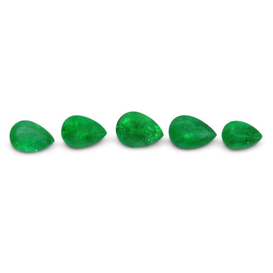 Colombian Emerald 1.91 cts 5st Pear WHOLESALE LOT