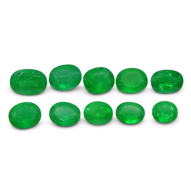 Colombian Emerald 4.3 cts 10st Oval WHOLESALE LOT - Skyjems Wholesale Gemstones