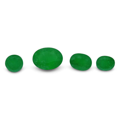 Colombian Emerald 2.49 cts 4st Oval/Round Wholesale Lot - Skyjems Wholesale Gemstones