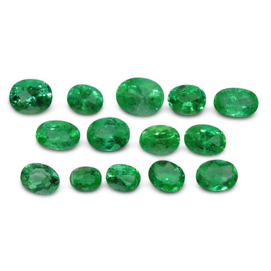 Colombian Emerald 5.9 cts 14st Oval Wholesale Lot - Skyjems Wholesale Gemstones