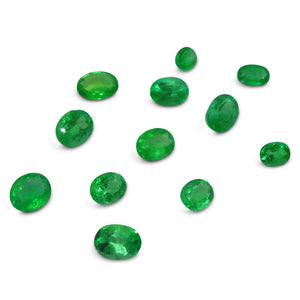 Colombian Emerald 6.02 cts 12st Oval WHOLESALE LOT
