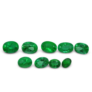 Colombian Emerald 3.14 cts 9st Oval WHOLESALE LOT - Skyjems Wholesale Gemstones