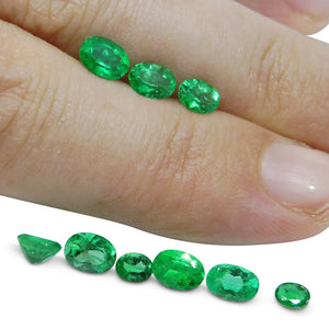 Colombian Emerald 3.14 cts 9st Oval WHOLESALE LOT