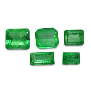 Colombian Emerald 3.05 cts 5st Emerald/Baguette Cut WHOLESALE LOT