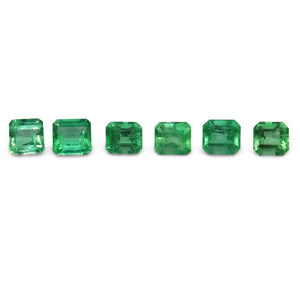Colombian Emerald 4.65 cts 6st Emerald Cut/Square Wholesale Lot - Skyjems Wholesale Gemstones