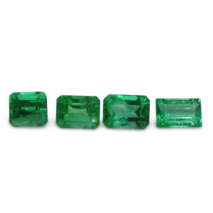Colombian Emerald 2.53 cts 4st Emerald Cut Wholesale Lot - Skyjems Wholesale Gemstones