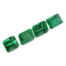 Colombian Emerald 2.53 cts 4st Emerald Cut Wholesale Lot