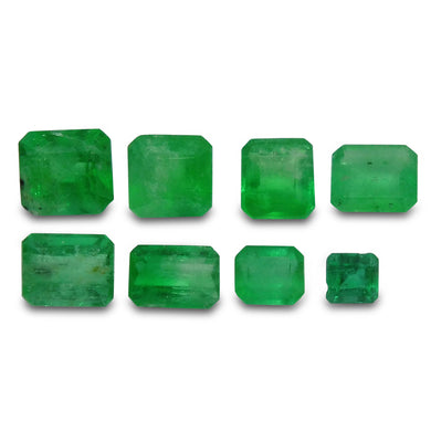 Colombian Emerald 4.27 cts 8st Emerald Cut/Square WHOLESALE LOT