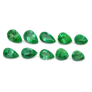 Colombian Emerald 5.24 cts 10st Pear Wholesale Lot