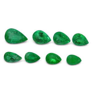 Colombian Emerald 4.17 cts 8st Pear WHOLESALE LOT
