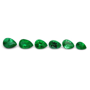 Colombian Emerald 1.91 cts 6st Pear WHOLESALE LOT