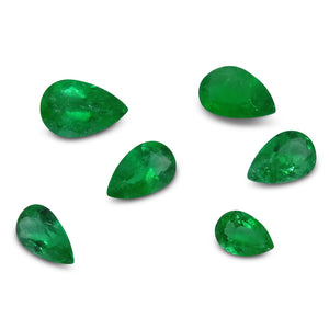 Colombian Emerald 3.13 cts 6st Pear WHOLESALE LOT