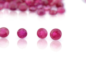 Ruby 46.89 cts 435 stones 2mm-3mm Round Mix Wholesale Lot