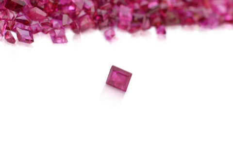 Ruby 20.79 cts 594 stones Mix Square/Fancy Cut Wholesale Lot