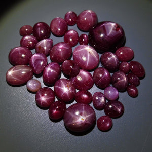 Star Ruby 313 cts 36 stones Wholesale Lot