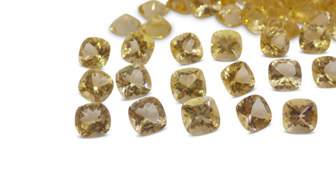 Heliodor 131.21 cts 154 stones Wholesale Lot