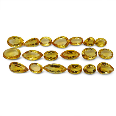 Citrine 119.71 cts 19 stones Wholesale Lot - Skyjems Wholesale Gemstones
