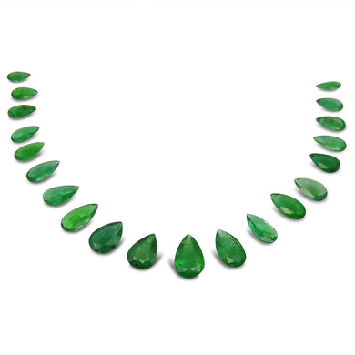 Emerald 46.45 cts 20 stones Pear Wholesale Lot