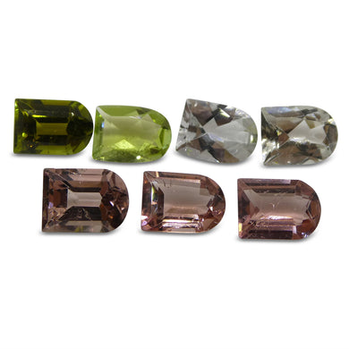 Multi Colour Tourmaline 9.1 cts 8.00x6.00x4.00mm Fancy / Ghost Pink / Green / Clear  $280