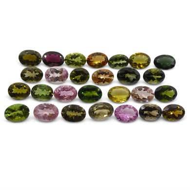 Multi Colour Tourmaline 20.32 cts 7.00x5.00x3.00mm Oval Pink / Orange / Yellow / Green  $310