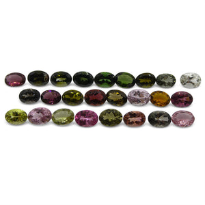 Multi Colour Tourmaline 20.33 cts 7.00x5.00x3.00mm Oval Pink / Orange / Yellow / Green  $310