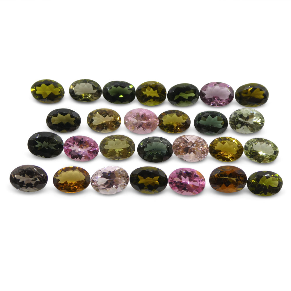 Multi Colour Tourmaline 20.45 cts 7.00x5.00x3.00mm Oval Pink / Orange / Yellow / Green / Purple  $310