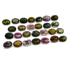 20.45 ct Multi Colour Tourmaline Oval Wholesale Lot
