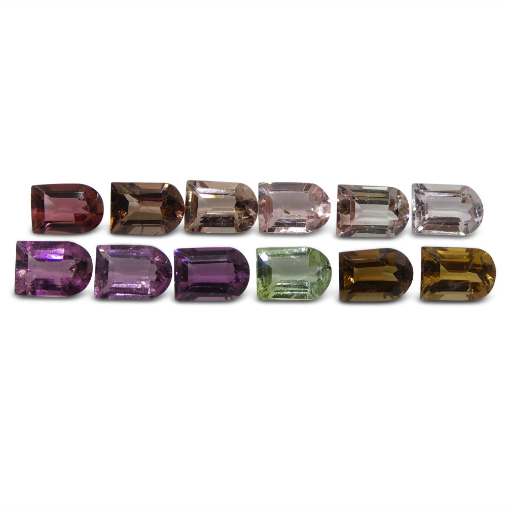 Multi Colour Tourmaline 10.3 cts 7.00x5.00x3.50mm Fancy / Ghost Pink / Orange / Yellow / Green / Purple  $310