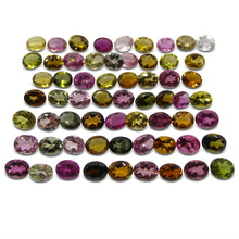 Multi Colour Tourmaline 20.32 cts 5.00x4.00x3.00mm Oval Red / Pink / Orange / Yellow / Green / Clear  $310