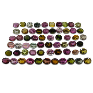 Multi Colour Tourmaline 20.26 cts 5.00x4.00x3.00mm Oval Red / Pink / Orange / Yellow / Green / Blue / Clear  $310