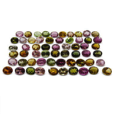 18.65 ct Multi Colour Tourmaline Oval Wholesale Lot